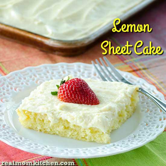 Lemon Sheet Cake   realmomkitchen.com
