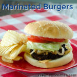 Marinated Burgers | realmomkitchen.com