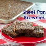 Sheet Pan Brownies | realmomkitchen.com