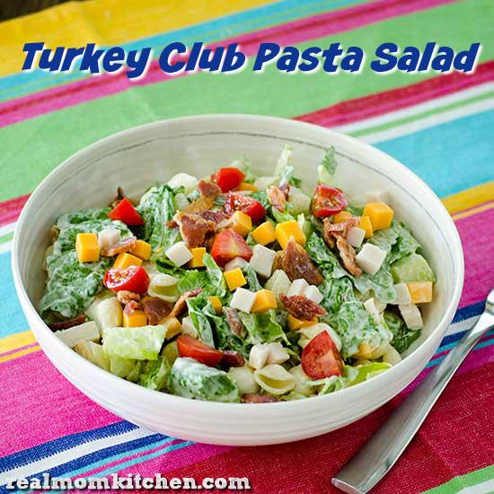 Turkey Club Pasta Salad | realmomkitchen.com