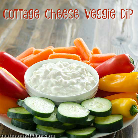 Cottage Cheese Veggie Dip | realmomkitchen.com