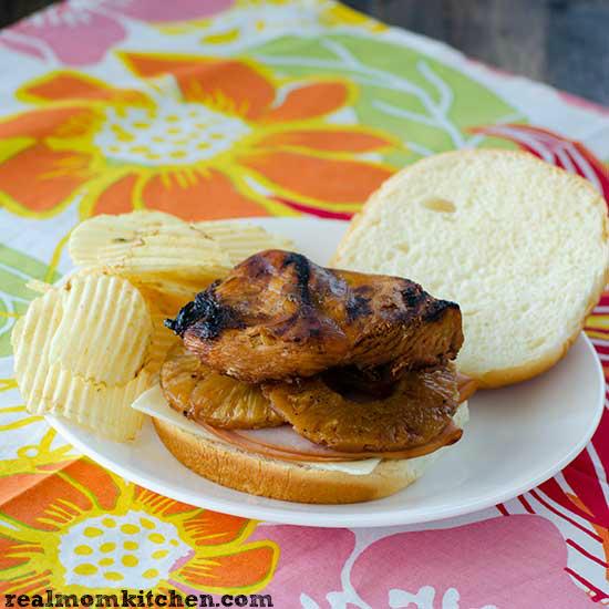 Big Kahuna Chicken Teriyaki Sandwiches | realmomkitchen.com