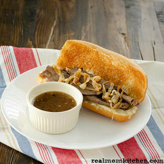 Skillet French Dip Sandwiches | realmomkitchen.com