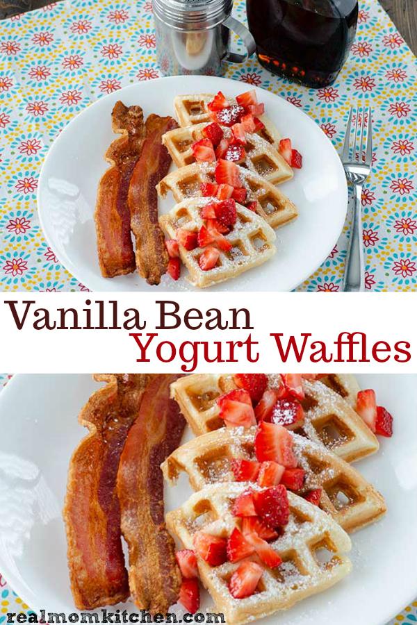 Vanilla Bean Yogurt Waffles   realmomkitchen.com