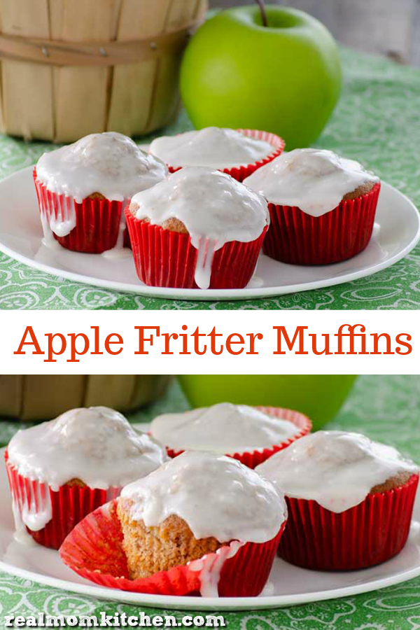 Apple Fritter Muffins | realmomkitchen.com