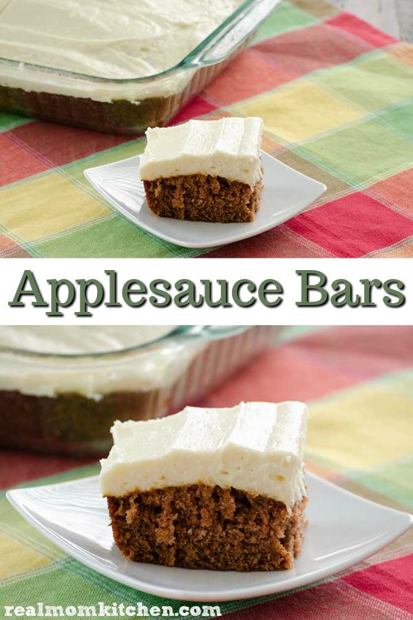 Applesauce Bars | realmomkitchen.com