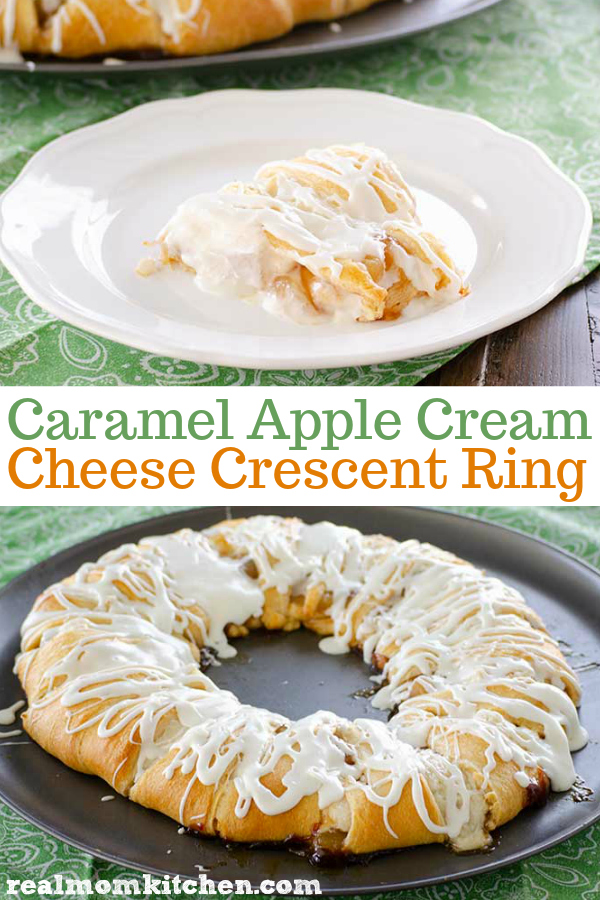Caramel Apple Cream Cheese Crescent Ring | realmomkitchen.com